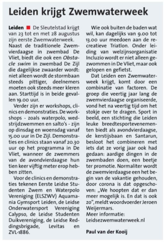 20210804 - Leiden krijgt ZwemWaterWeek